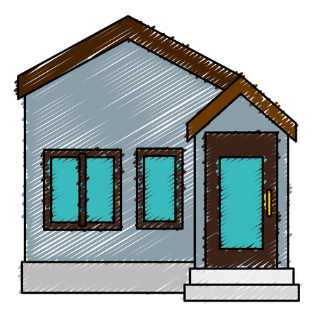 exterior house isolated icon vector illustration design Illustration