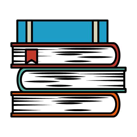 Tekstboeken geïsoleerd pictogram vector illustratie ontwerp