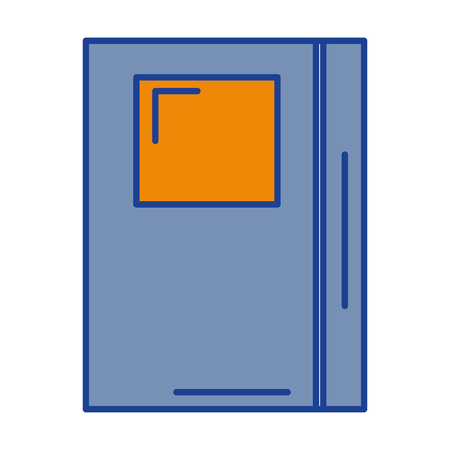 Tekstboek geïsoleerd pictogram vector illustratie ontwerp Stock Illustratie