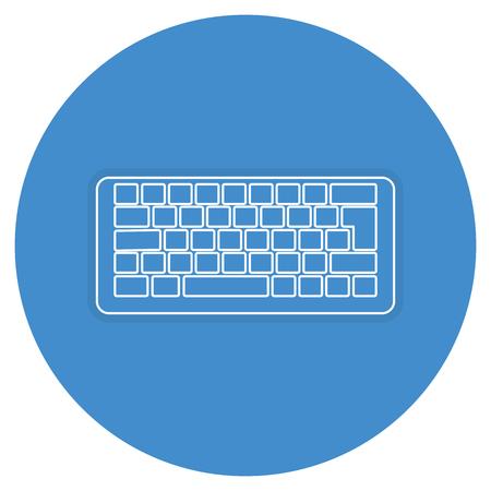 computer keyboard isolated icon vector illustration design Ilustrace