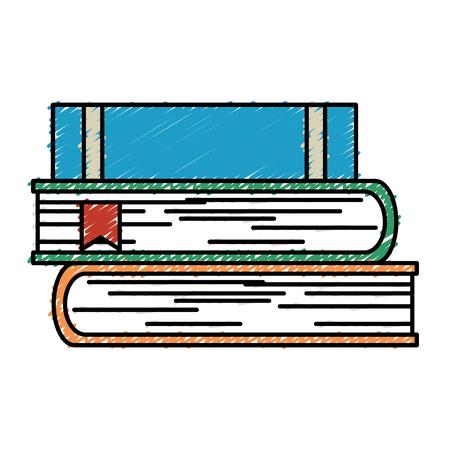 tekstboeken stapel geïsoleerd pictogram vector illustratie ontwerp Stock Illustratie
