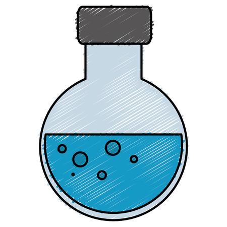 튜브 테스트 격리 된 아이콘 벡터 일러스트 디자인