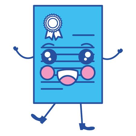 graduation certificate   character vector illustration design