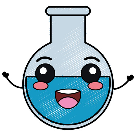 tube test character vector illustration design Stock Illustratie