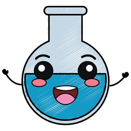 tubo de prueba carácter ilustración vectorial diseño