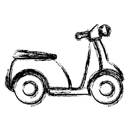 scooter bike isolated icon vector illustration design Ilustrace