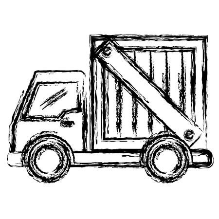 delivery truck: delivery service truck isolated icon vector illustration design Illustration