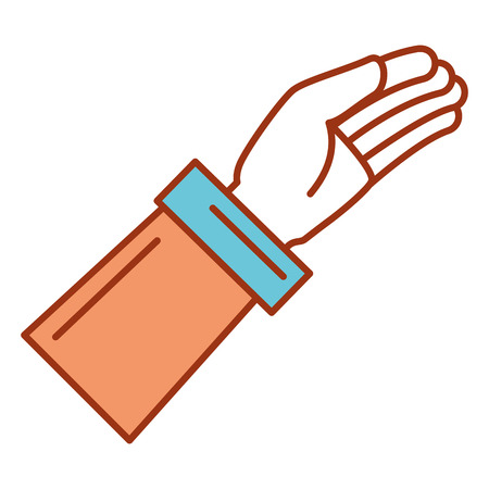 Hand asking isolated icon vector illustration design Banco de Imagens - 82589394