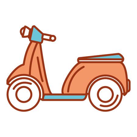 스쿠터 자전거 격리 아이콘 벡터 일러스트 레이 션 디자인