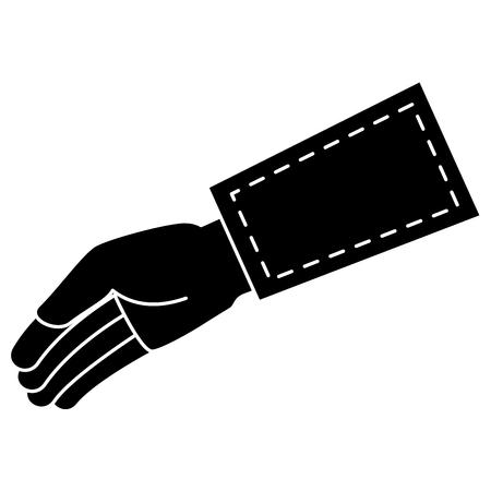 Main demandant isolé conception d'icône vector illustration Banque d'images - 82589415