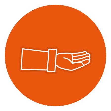 Hand asking isolated icon vector illustration design Illustration