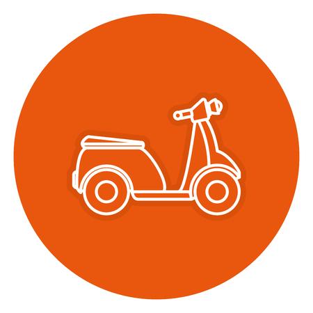Scooter fiets geïsoleerd pictogram vector illustratie ontwerp Stock Illustratie