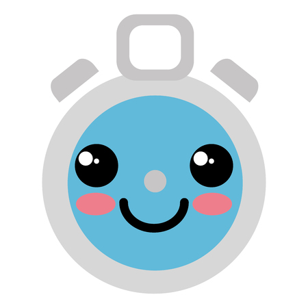 chronometer timer kawaii character vector illustration design