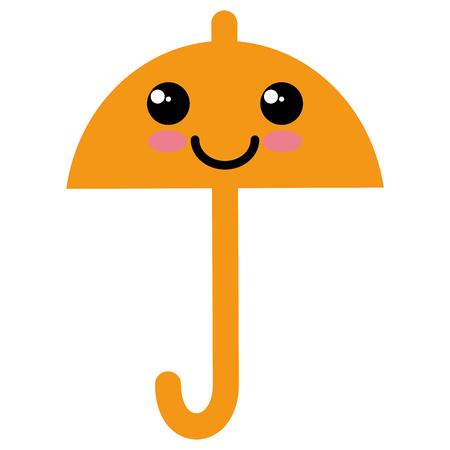 umbrella silhouette kawaii character vector illustration design Illustration