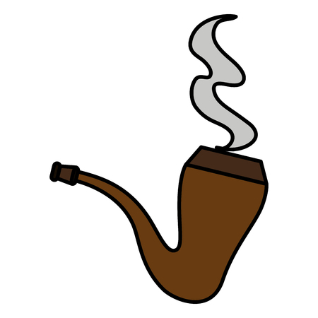 Wooden pipe isolated icon vector illustration design Иллюстрация