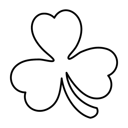 saint patrick clover icon vector illustration design 矢量图像