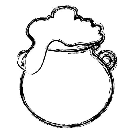 Caldero de San Patricio ilustración vectorial diseño Foto de archivo - 82589440