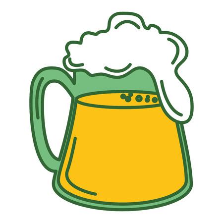 beer green saint patrick icon vector illustration design