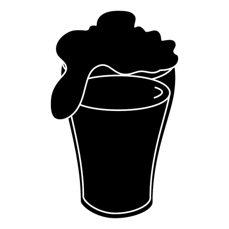 fresh beer isolated icon vector illustration design 向量圖像