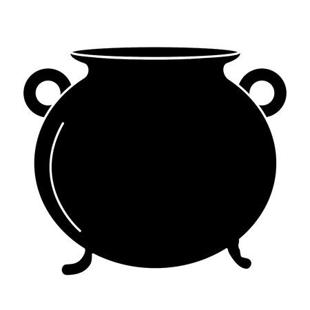 Cauldron of saint patrick vector illustration design