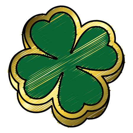 saint patrick clover icon vector illustration design 向量圖像