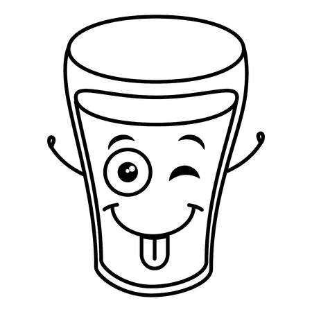 water glass   character vector illustration design