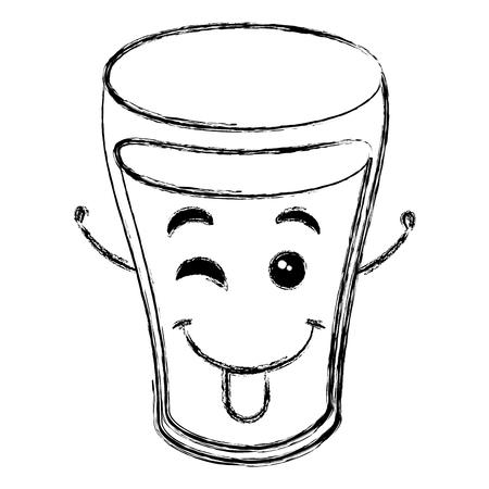 water glass character vector illustration design Ilustração
