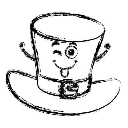 Irish elf hat  character vector illustration design