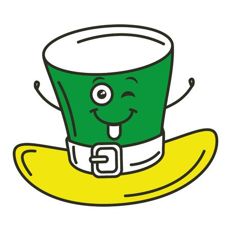 elves: Irish elf hat  character vector illustration design