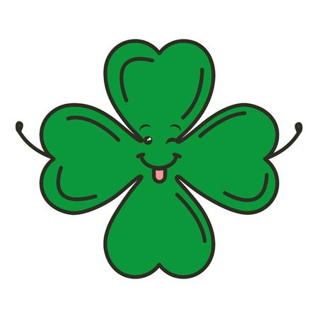 saint patrick clover character vector illustration design