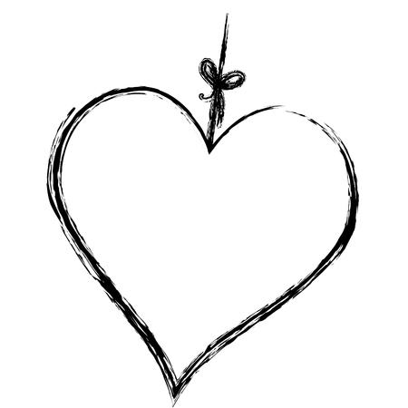 heart love hanging icon vector illustration design