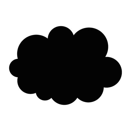 speech bubble icon over white background icon Ilustração