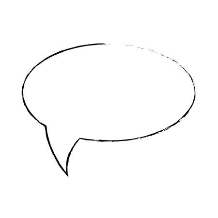 speech bubble icon over white background icon Иллюстрация
