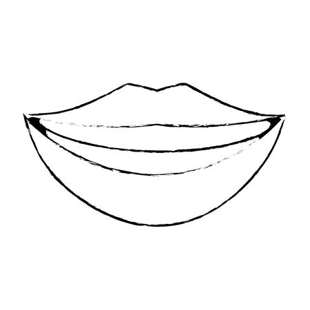Labios pop art cartoon sobre icono de fondo blanco Foto de archivo - 82698066
