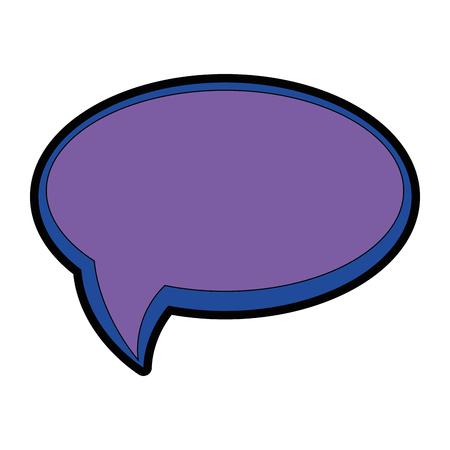 Speech bubble icon over white background icon Stock Illustratie