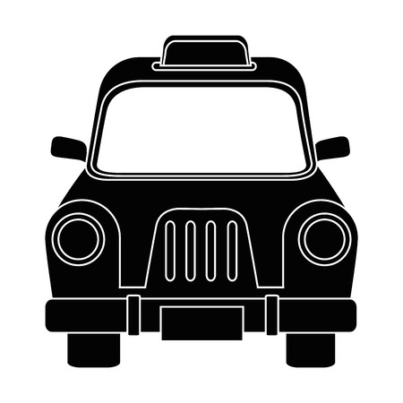 Taxi antique vehicle icon vector illustration graphic design Illusztráció