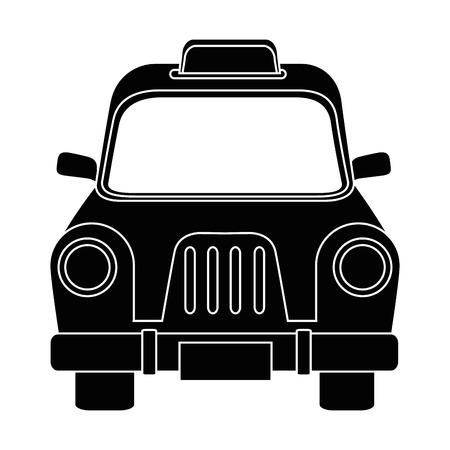 Van de het pictogram vectorillustratie van het taxi antiek voertuig grafisch ontwerp Stock Illustratie