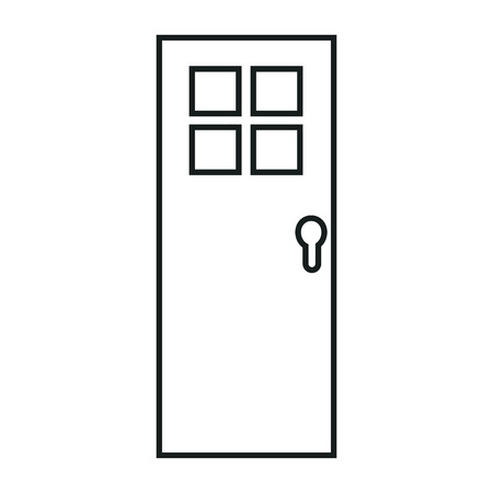 door isolated image icon over white background icon