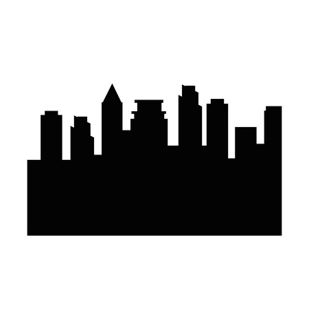 city buildings silhouette icon vector illustration graphic design Çizim