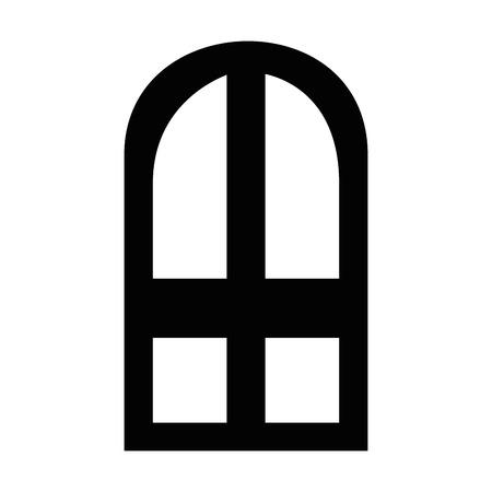venster geïsoleerde afbeelding pictogram over witte achtergrond icoon Stock Illustratie