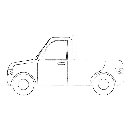 Pickup vehicle isolated icon vector illustration graphic design