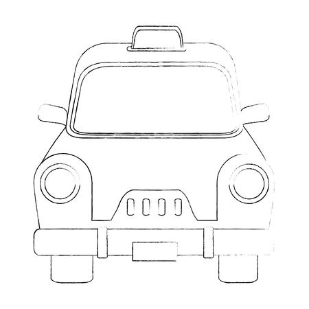 Taxi antique vehicle icon vector illustration graphic design Иллюстрация