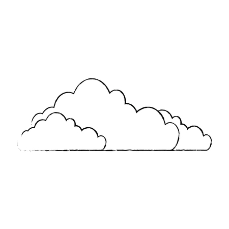 Clouds weather image over white background graphic