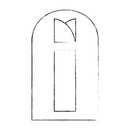Venster geïsoleerd beeldpictogram over witte achtergrond pictogram Stockfoto - 82723617