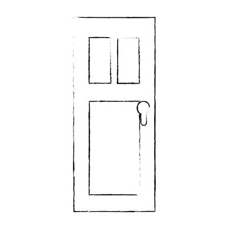 Porte icône isolé sur fond blanc icône Banque d'images - 82723618