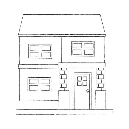 house real estate icon vector illustration graphic design Stock Photo