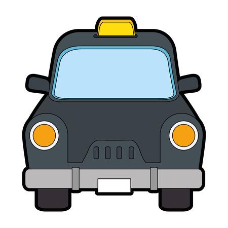 택시 골동품 차량 아이콘 벡터 일러스트 그래픽 디자인 일러스트