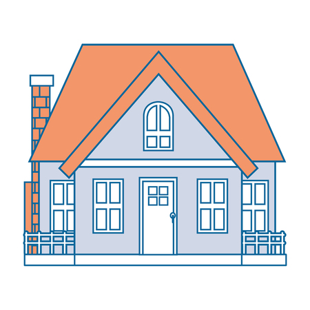 house real estate icon vector illustration graphic design Illusztráció