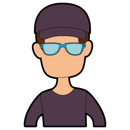 Man cartoon profile Illustration