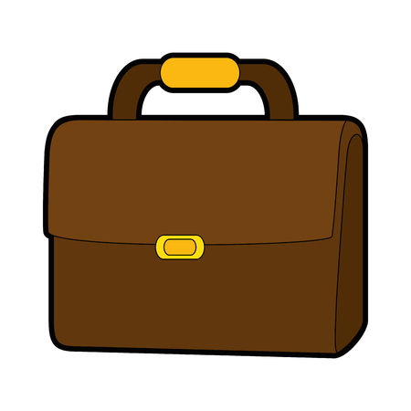 Business briefcase isolated 向量圖像